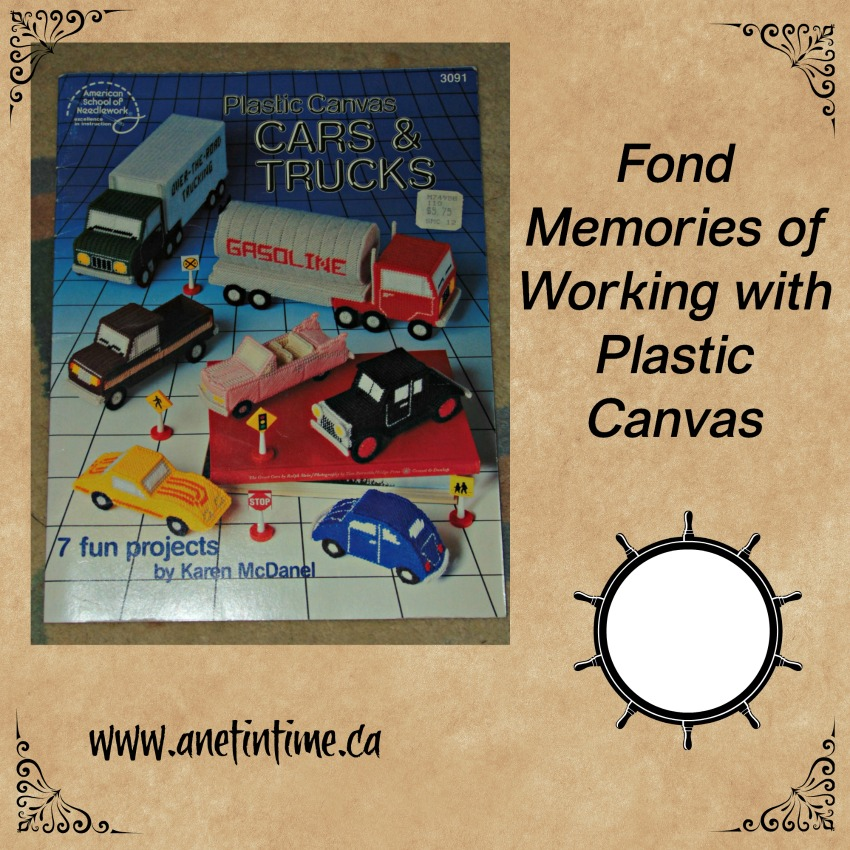 Plastic canvas cars and trucks