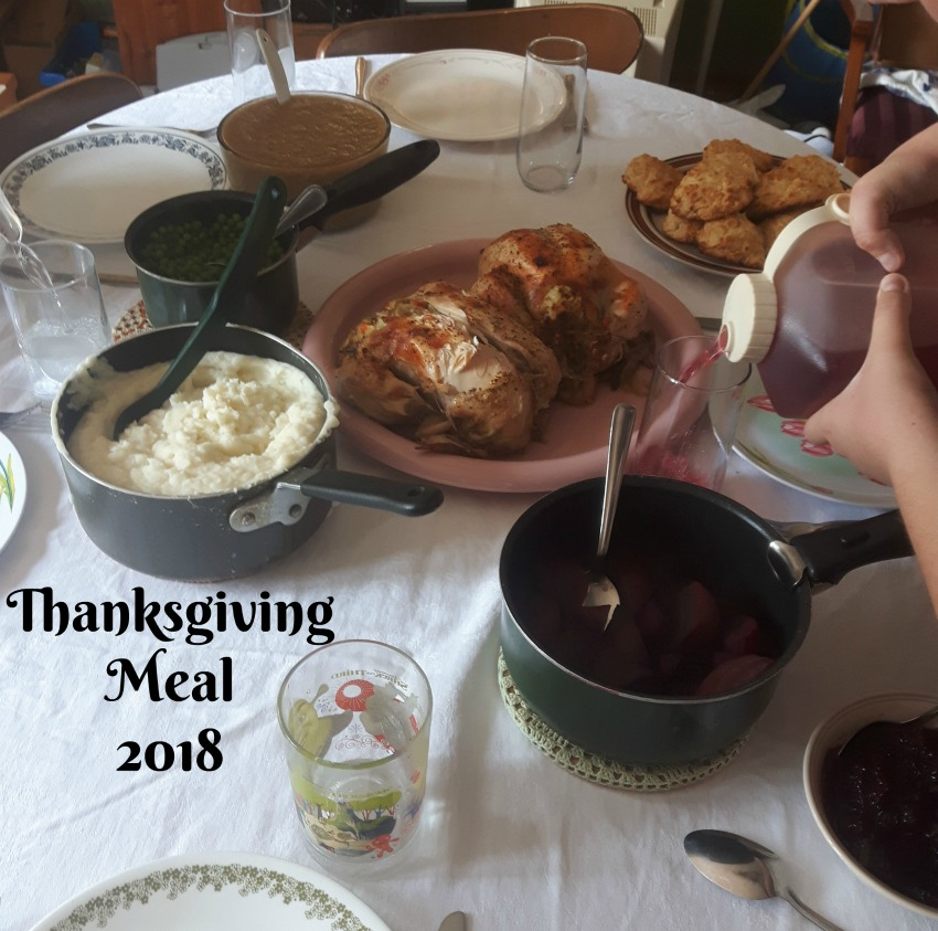 thanksgiving meal 2018