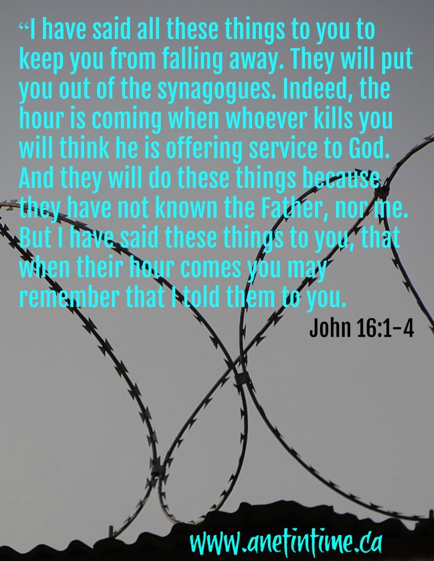 John 16:1-4