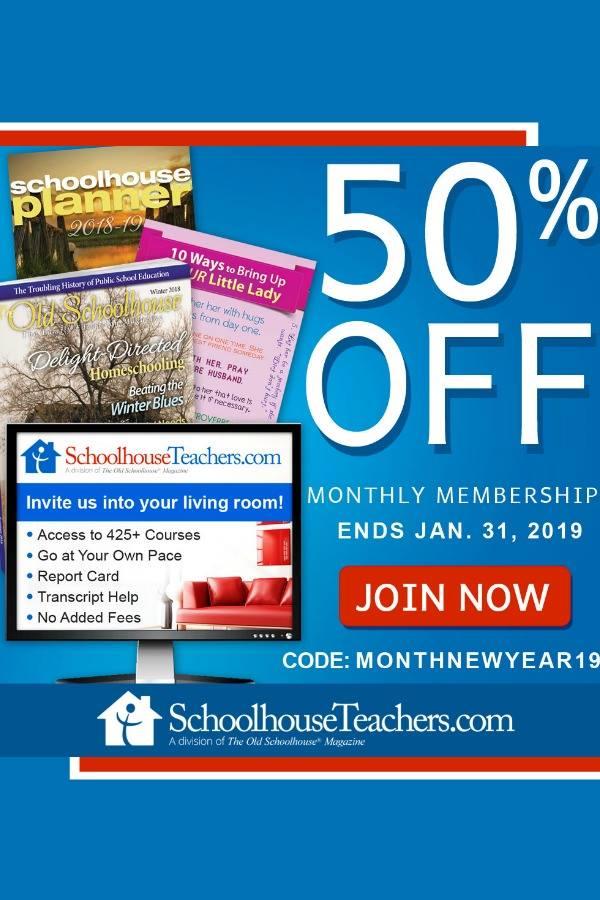 50% OFF SCHOOLHOUSETEACHERS.COM