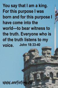 John 18:33-40 Pilate questions Jesus