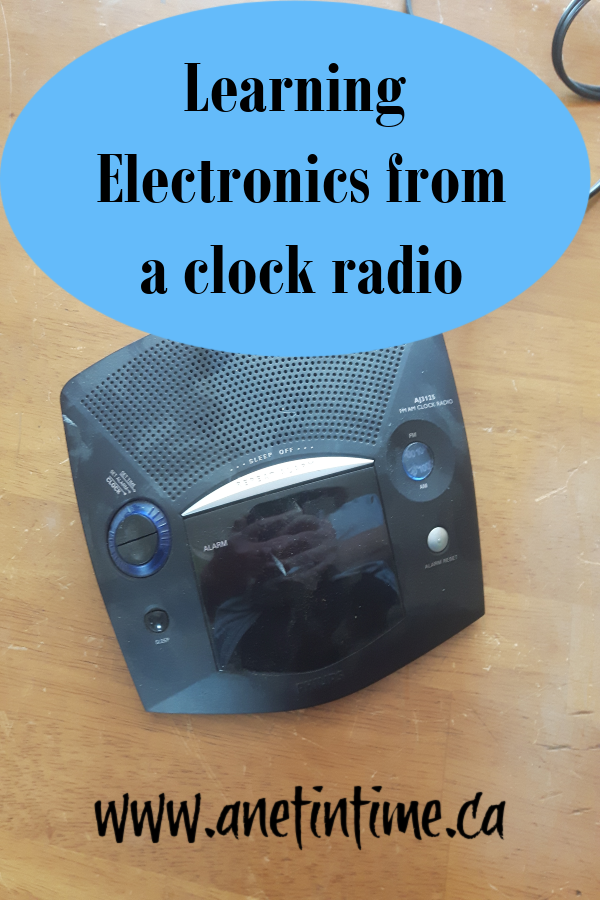 Learning electronics from a clock radio