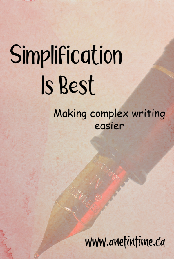 Simplification is best - making complex writing easier