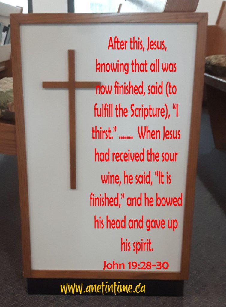 John 19:28-30