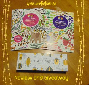 review and giveaway for Stamp bugs, in the forest and animals of the savannah