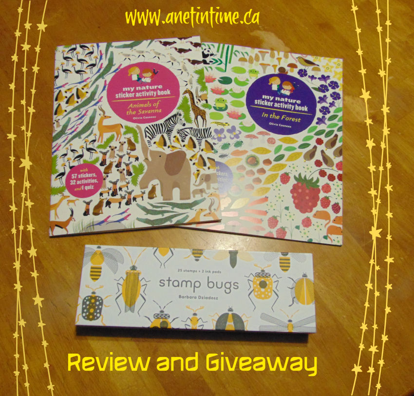 review and giveaway for animals of the savannah, in the forest and stamp bugs.