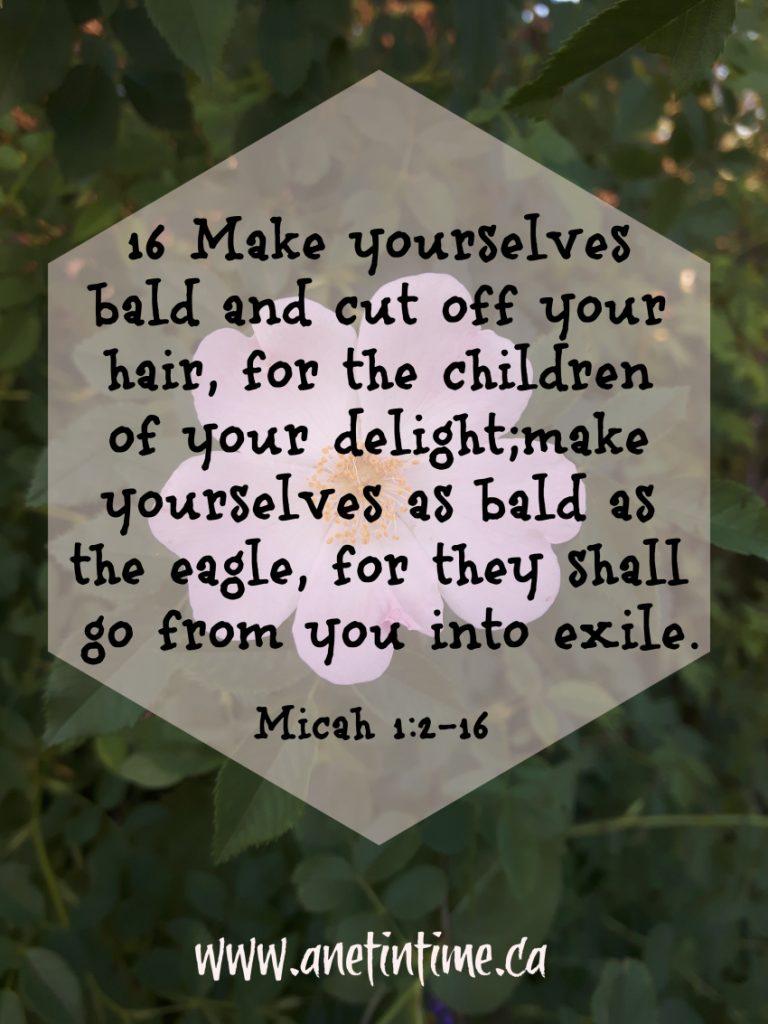 Micah 1:2-16  Exile Coming