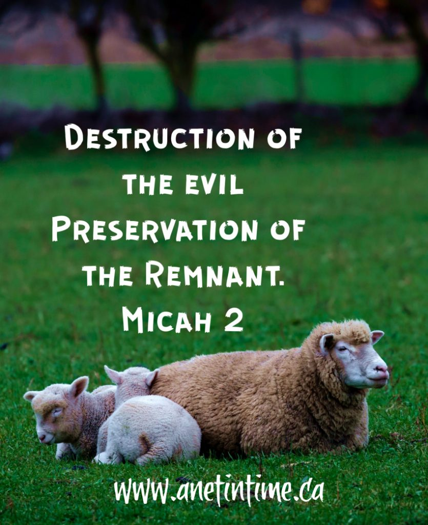 Micah 2   destruction and preservation