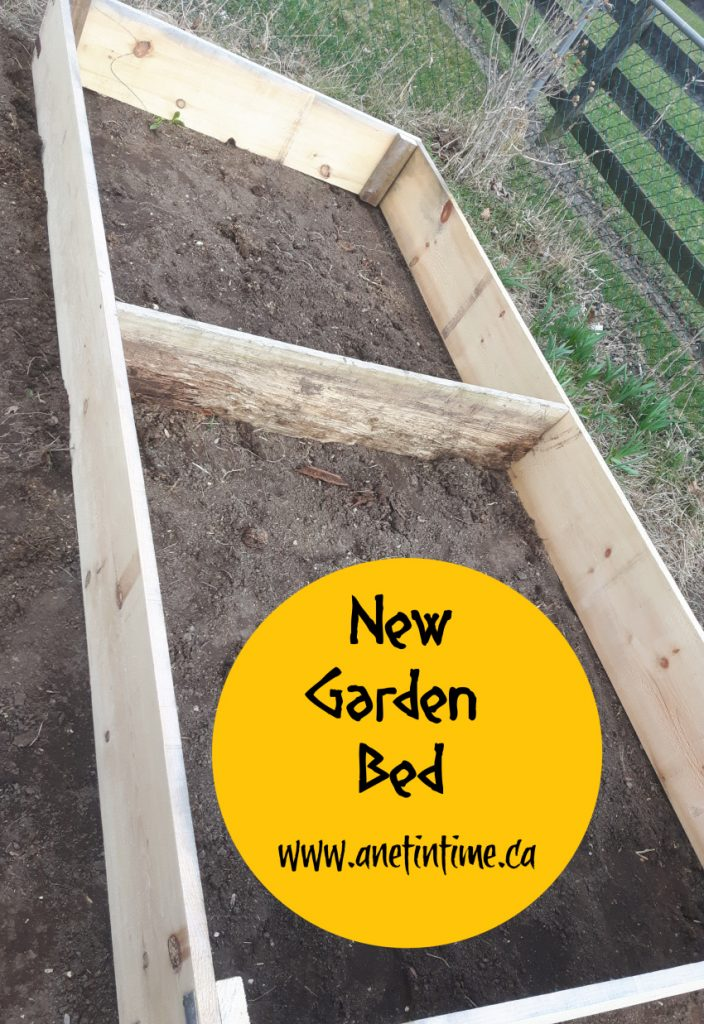 New garden bed using barn board