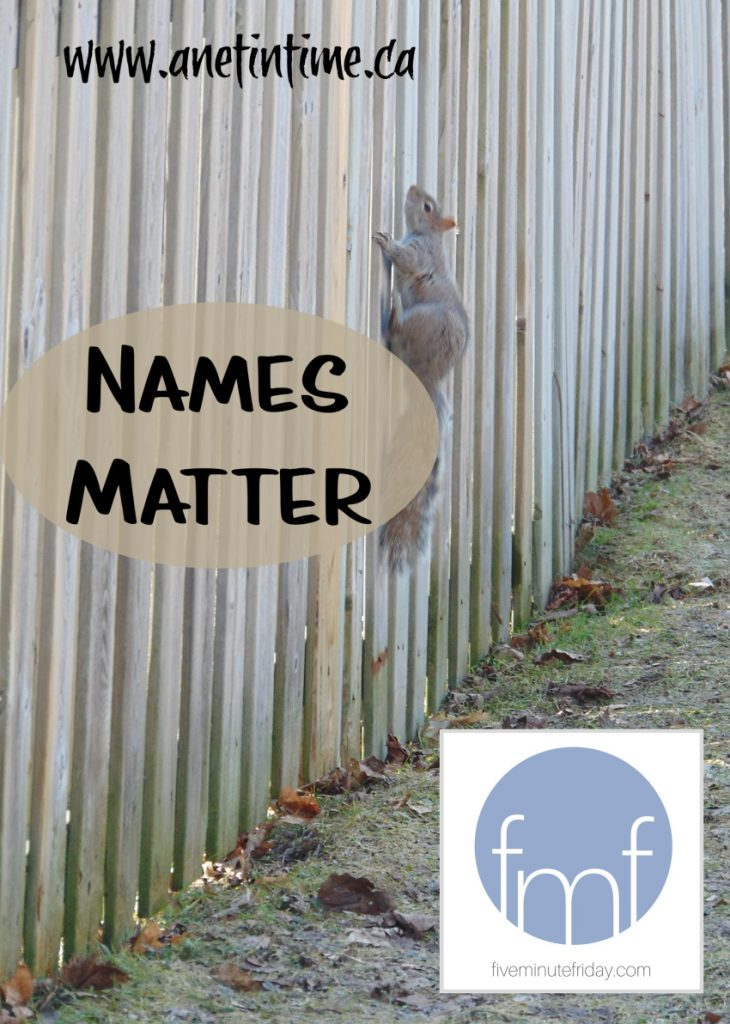 Names Matter