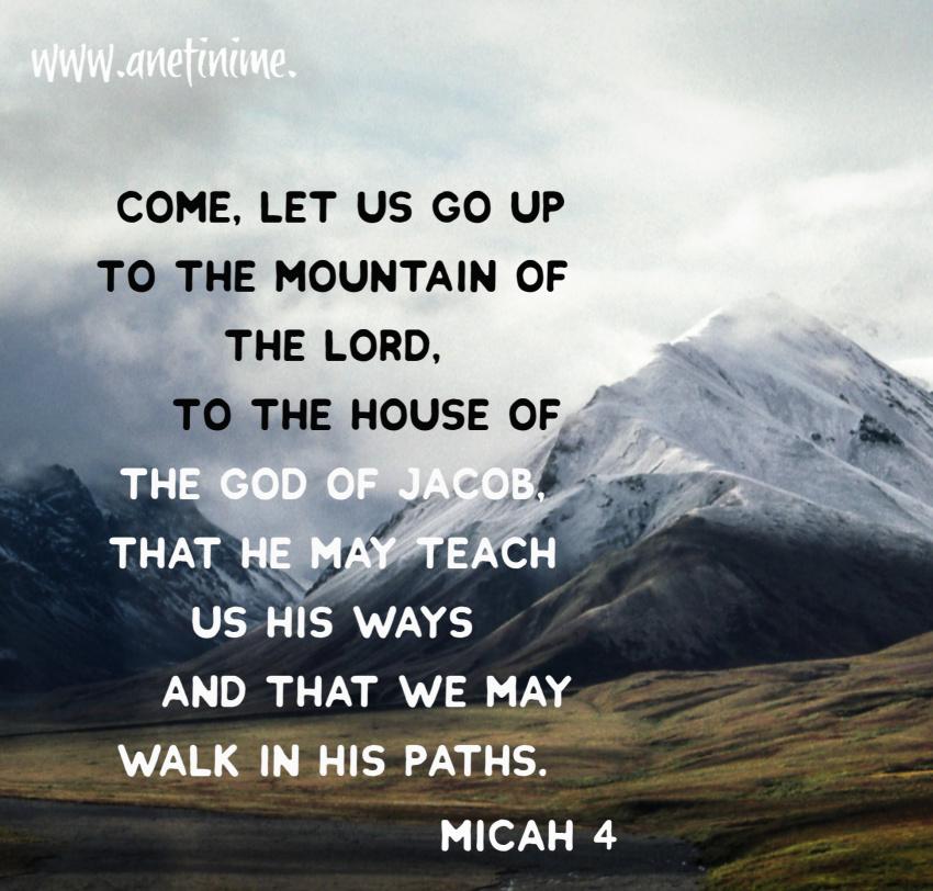 Micah 4:1-5