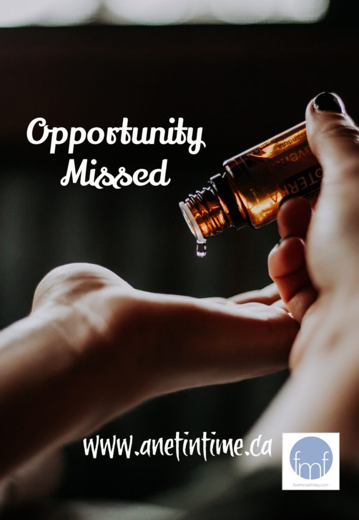 opportunity missed