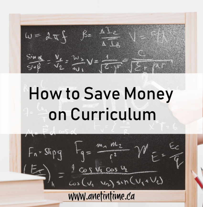 How to Save Money on Curriculum