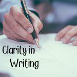 Clarity in writing