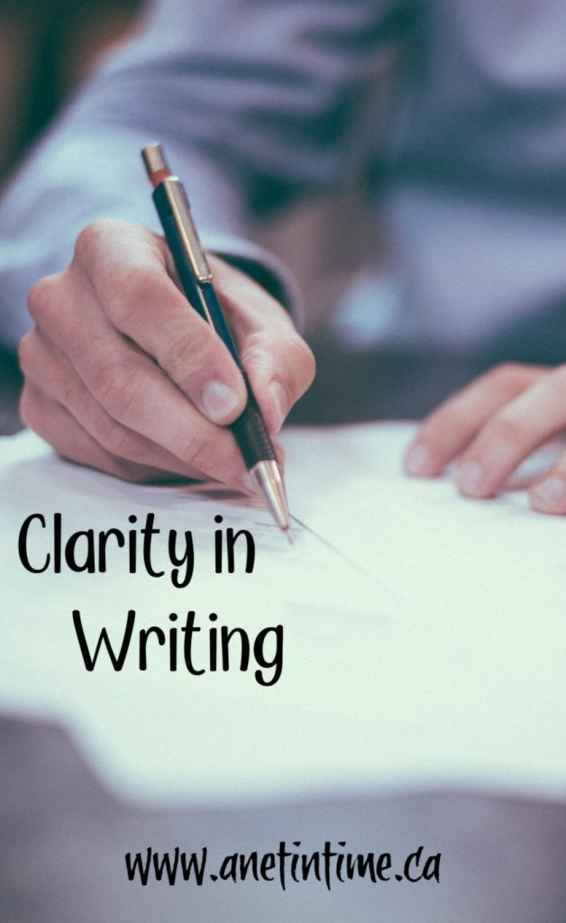 Clarity in Writing