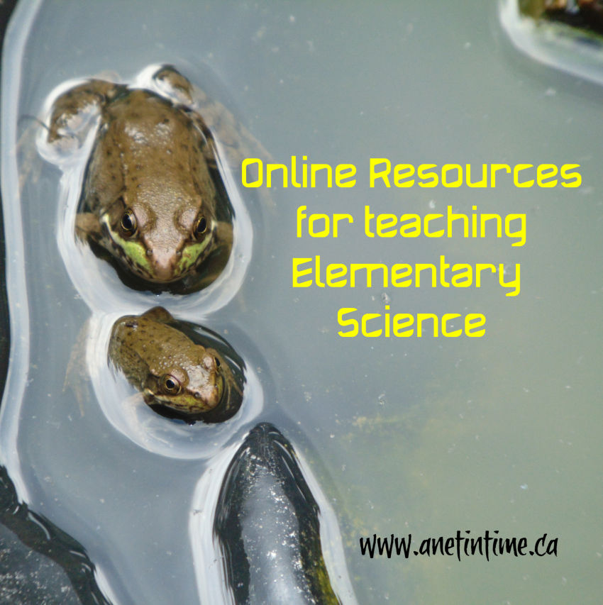 Online sources for teaching elementary science