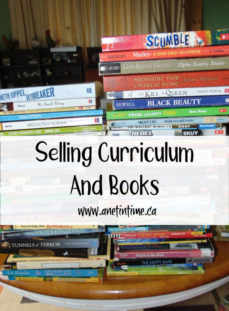 Selling curriculum and books
