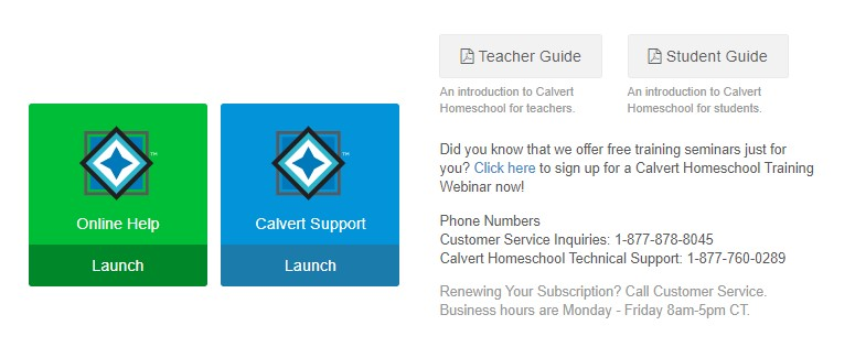 Calvert Homeschool help