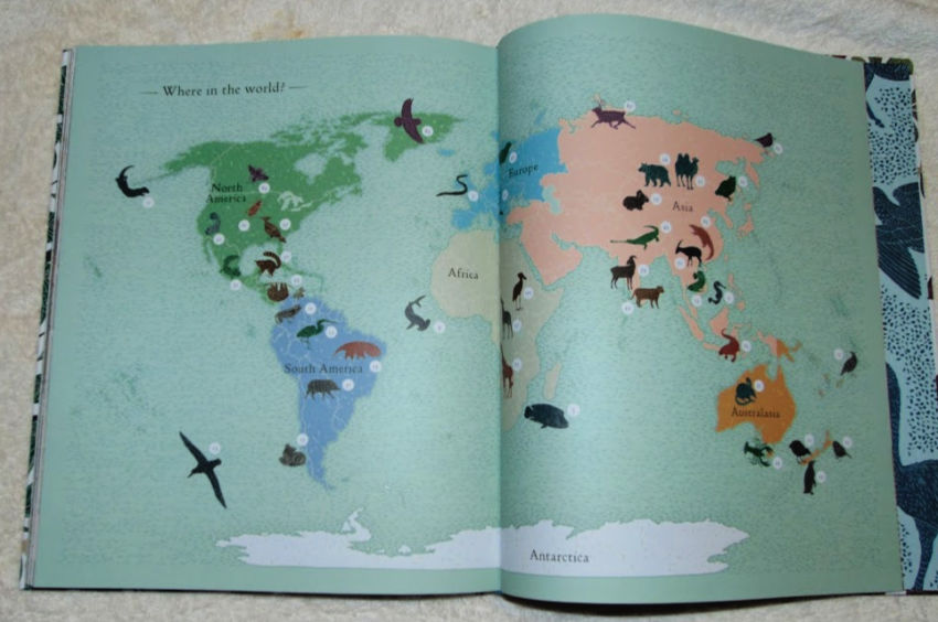 endangered animals map