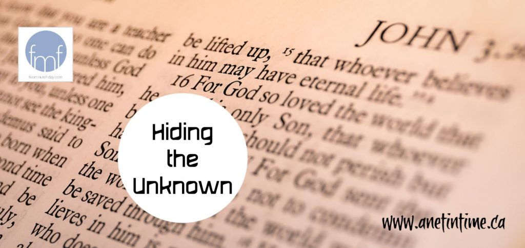 Hiding the Unknown
