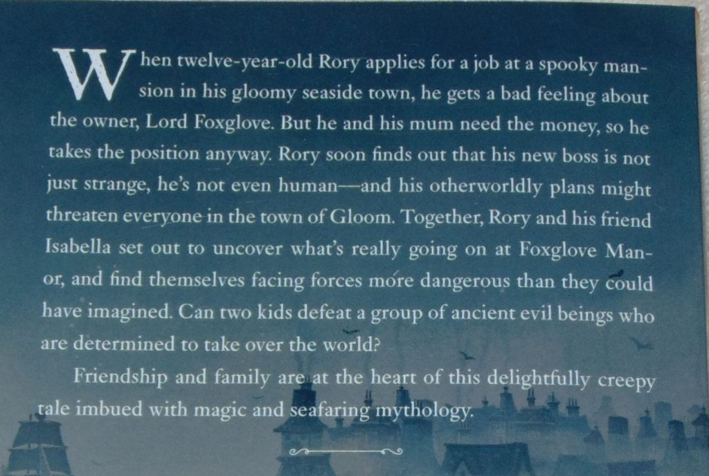 Gloom Town, backcover synopsis