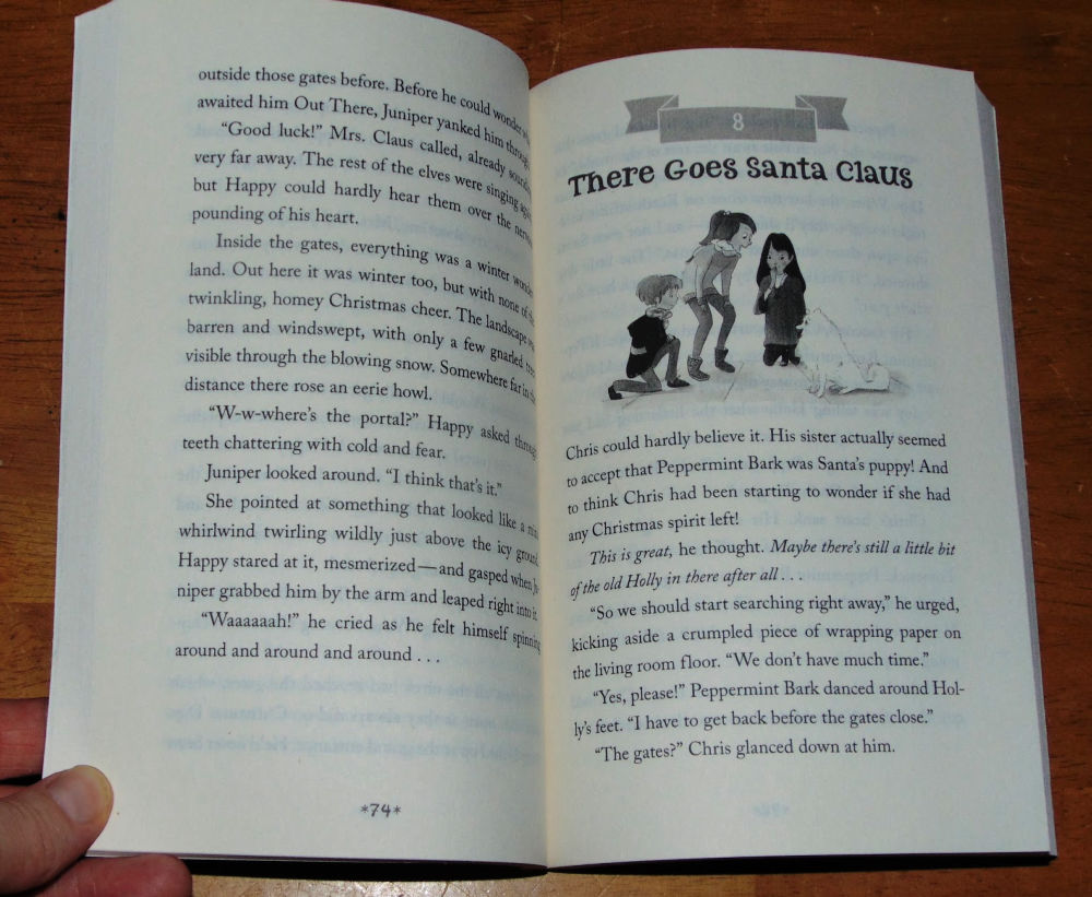 Santa's puppy, sample page