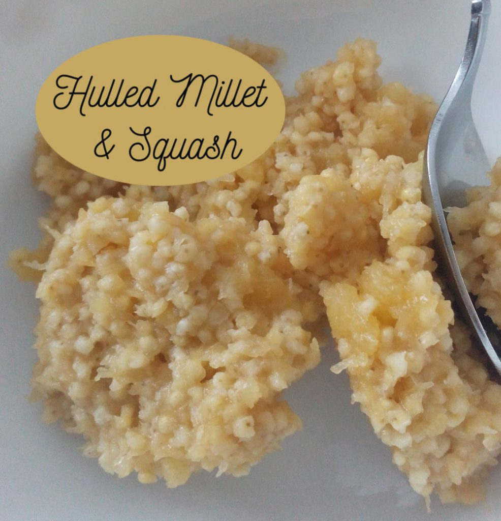 hulled millet and squash