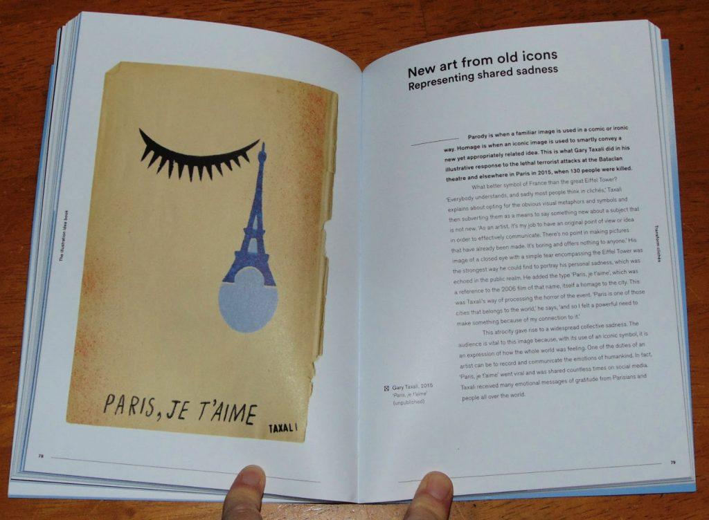 The illustration idea book -sample page