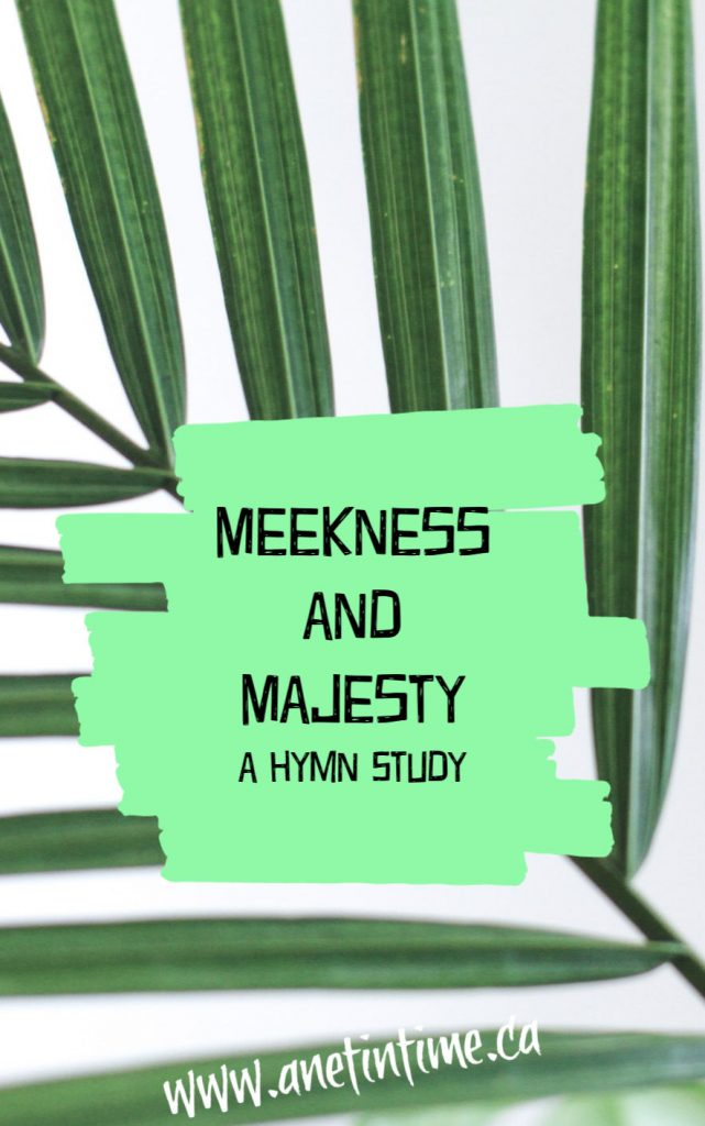 Meekness and Majesty, text on palm leaf