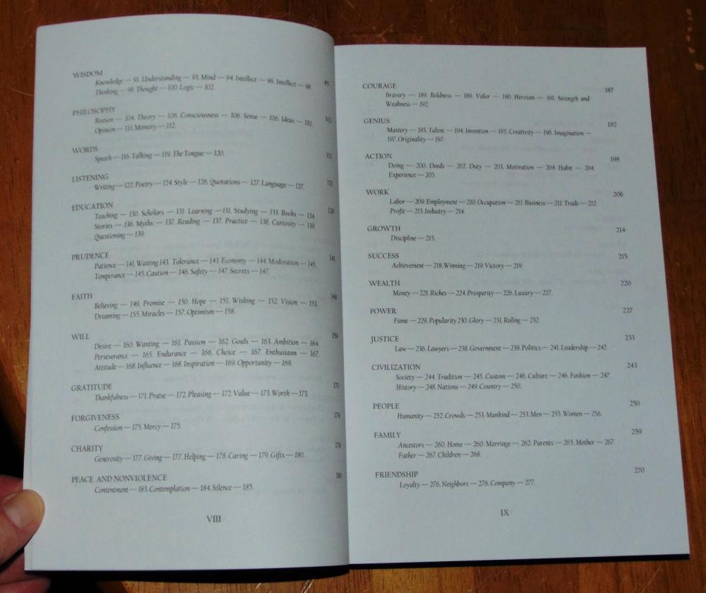 civilizations quotations table of contents
