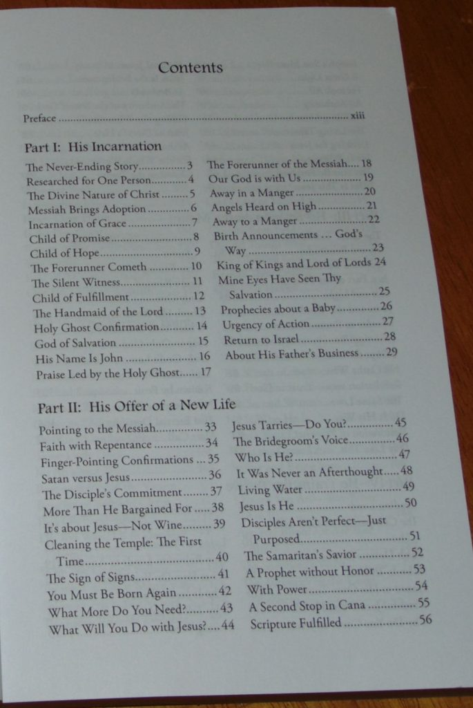 Thou Art the Christ table of contents