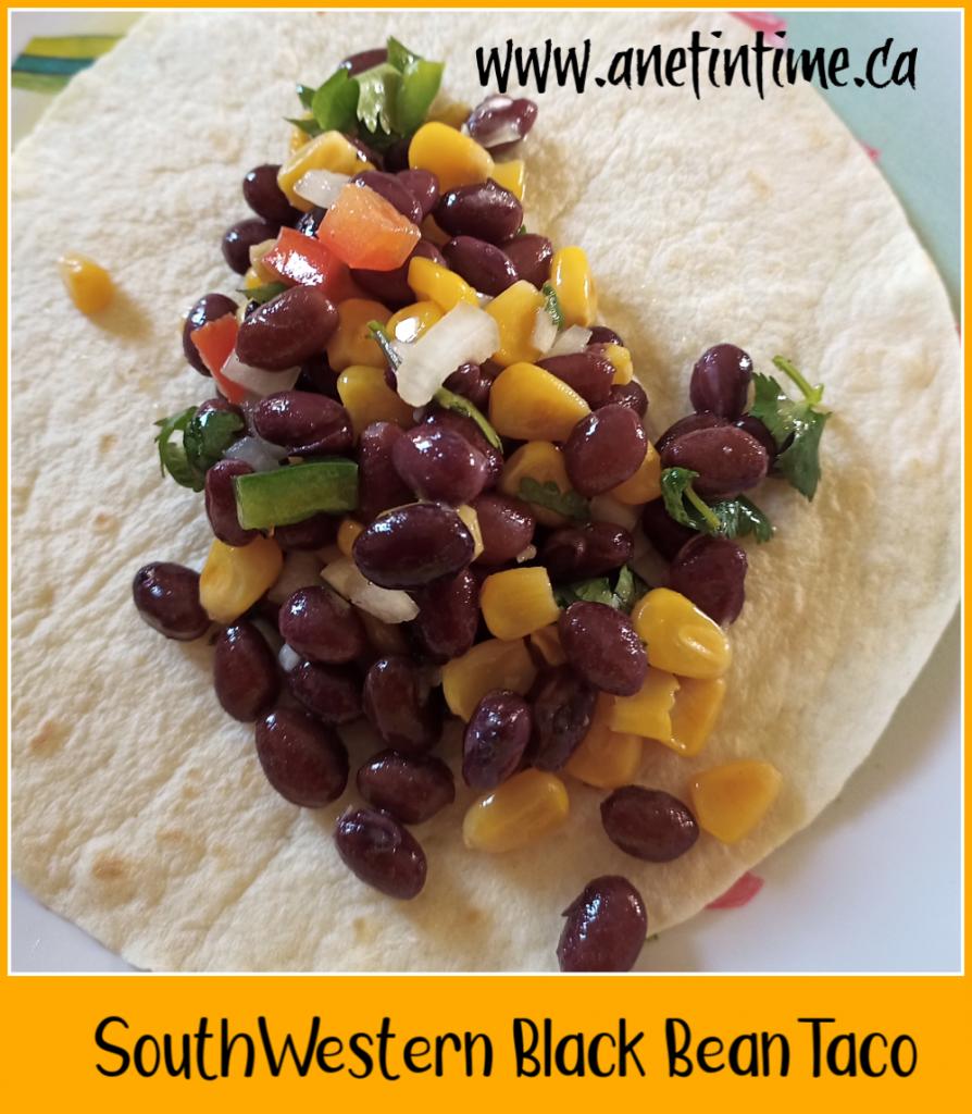 Southwestern black bean taco salad