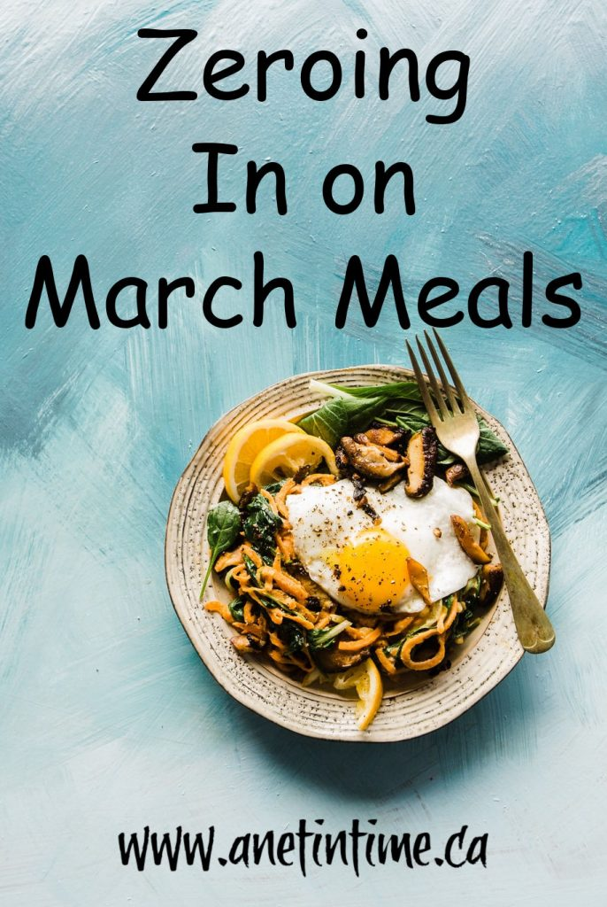 Zeroing in on March Meals