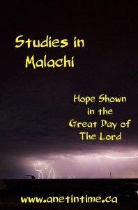 Studies in Malachi