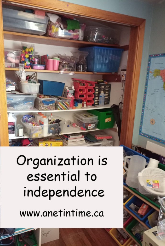Organization is essential to independence