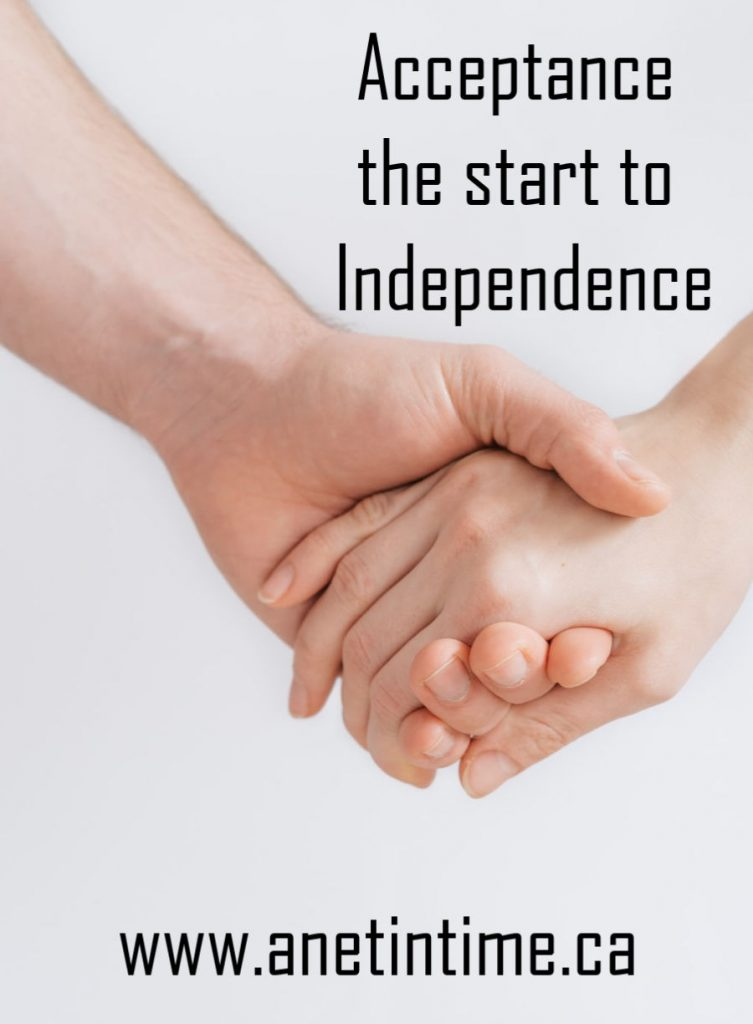 acceptance the start to independence
