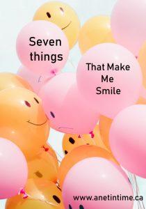 seven things that make me smile