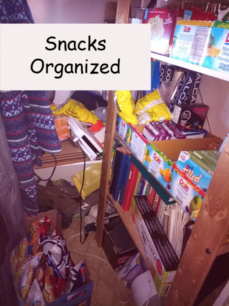 snacks organized