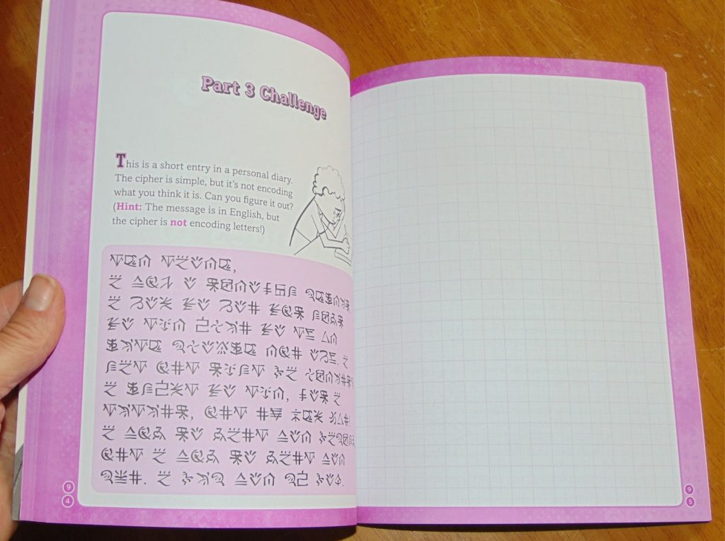 sample page from Create your own secret language