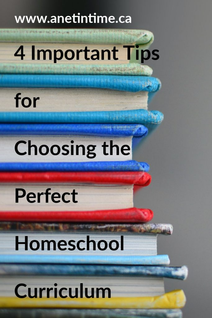 4 Important Tips for Choosing the Perfect Homeschool Curriculum