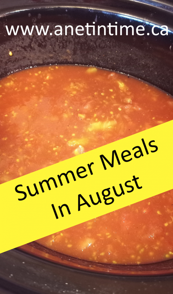 Summer Meals in August