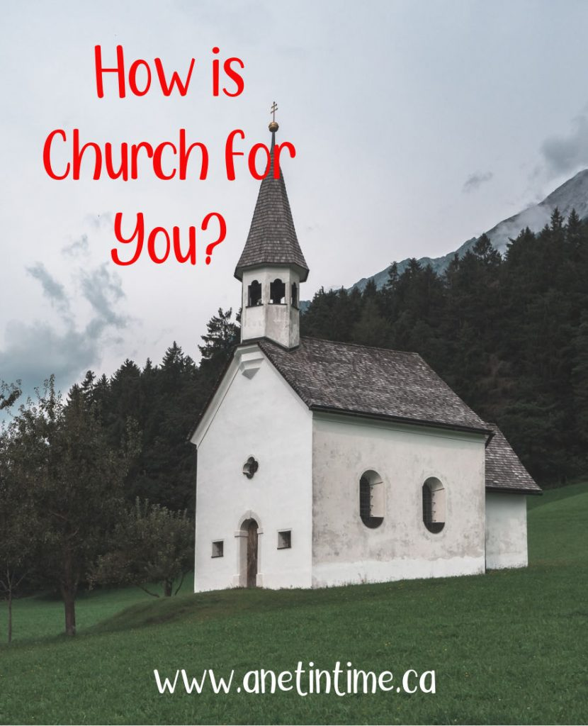 How is church for you?  Text with white church