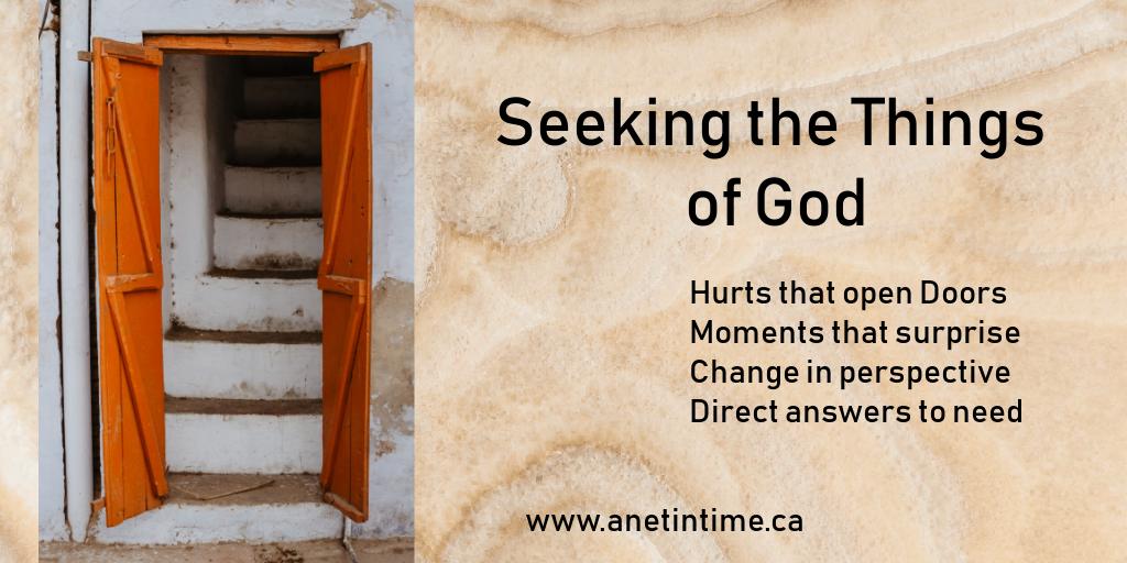 seeking the things of God