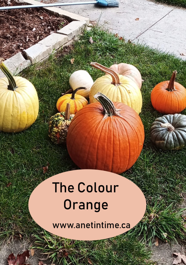 the colour orange, picture with pumpkins