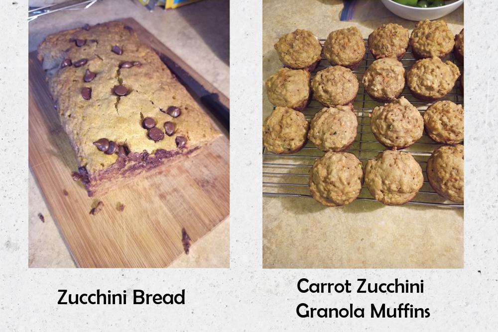 zucchini bread and zucchini muffins