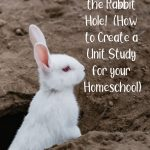 Going Down the Rabbit Hole!  (How to Create a Unit Study for your Homeschool)