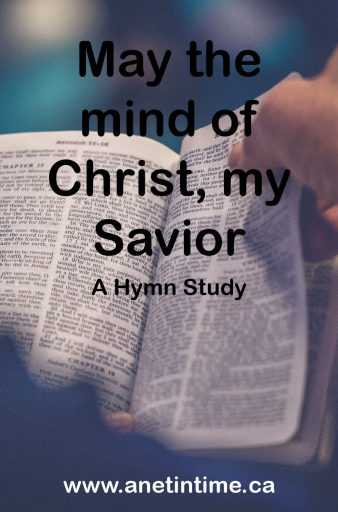 may the mind of Christ our saviour