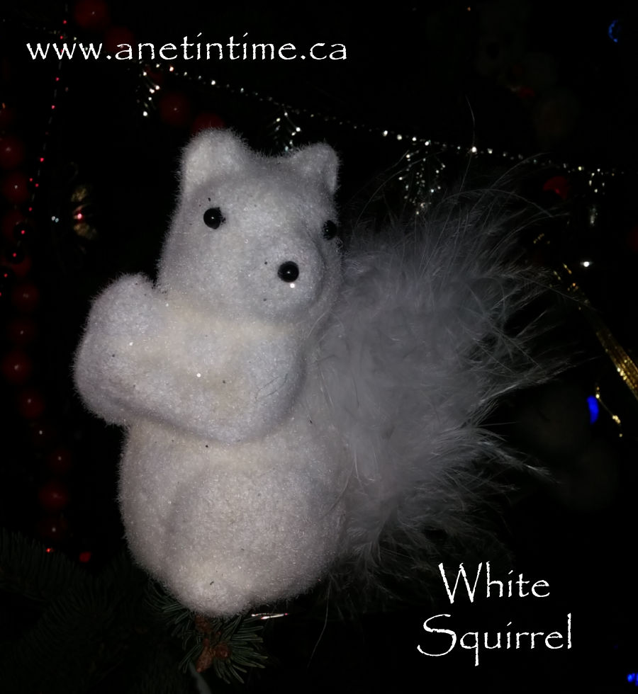 white squirrel ornaments