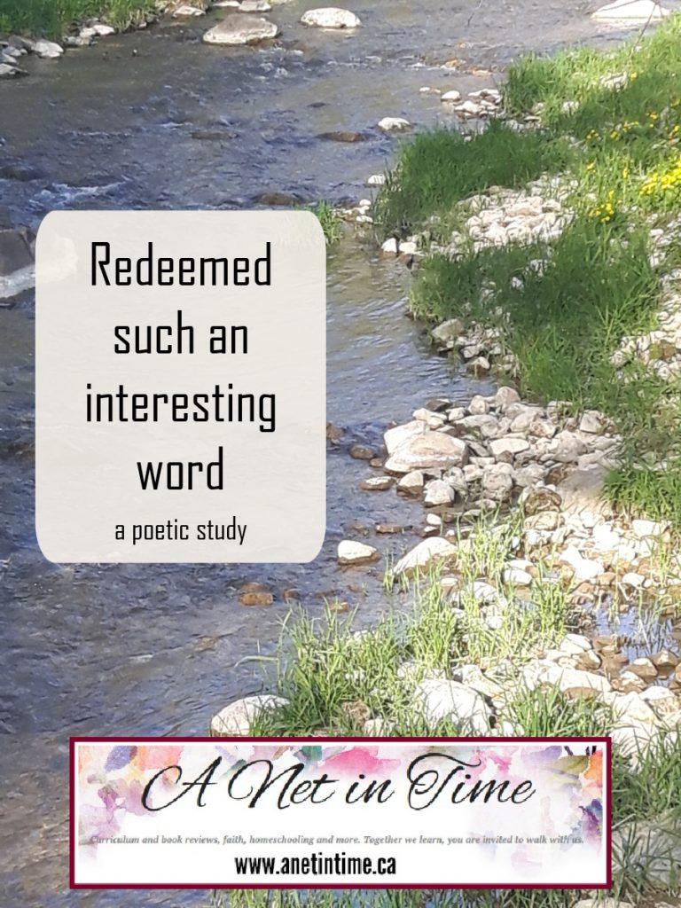 redeemed such an interesting word