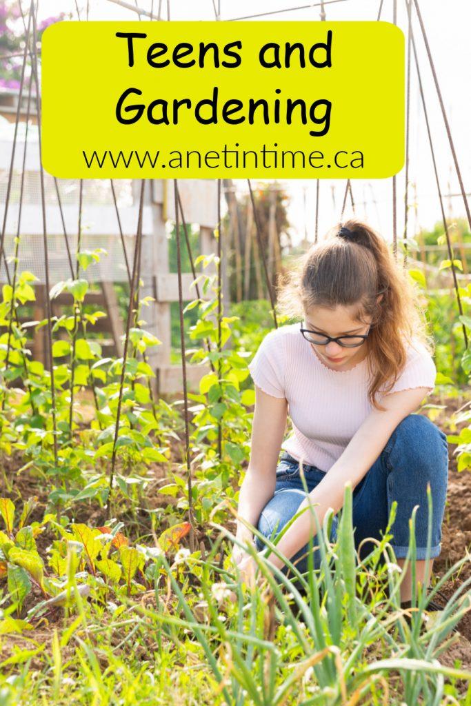 teens and gardening